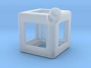 FidgetKeyCube Rev1 in Smooth Fine Detail Plastic