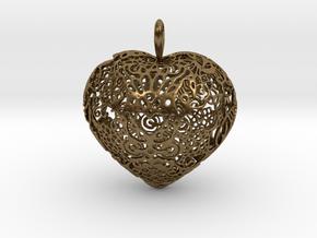 I.S. Pendant in Natural Bronze