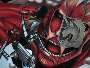 Attack On Titan Emblem - The Military Police in Stainless Steel