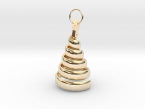 Swirl Tree Pendant in 14k Gold Plated Brass