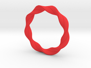 Bracelet 1 in Red Processed Versatile Plastic