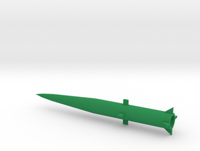 1/144 Scale MGM34 Pershing 1 Missile in Green Processed Versatile Plastic