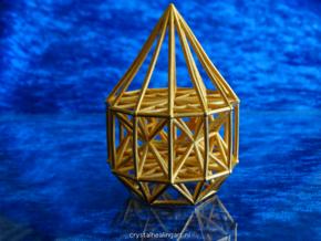 Merkaba Matrix Stargate in Polished Gold Steel