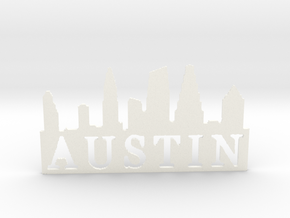Austin Pendent 1 in White Strong & Flexible Polished