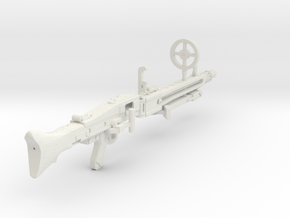 1:16 MG42 Machine Gun in White Strong & Flexible