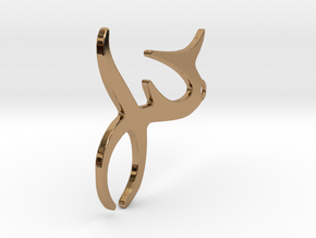 Capricorn Earing in Polished Brass