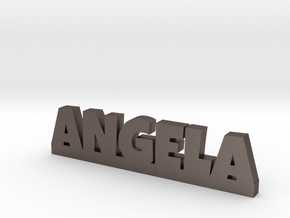 ANGELA Lucky in Polished Bronzed Silver Steel