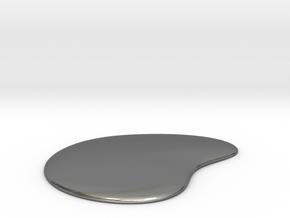 Liquid Drop Medium 3.7x4.5 cm in Fine Detail Polished Silver
