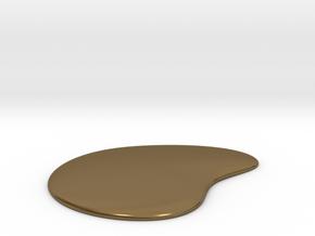 Liquid Drop Medium 3.7x4.5 cm in Polished Bronze