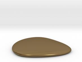 Liquid Drop small 3.5x4 cm in Polished Bronze