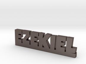 EZEKIEL Lucky in Polished Bronzed Silver Steel