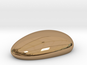 Metal Pebble paperweight in Polished Brass