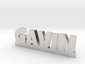 GAVIN Lucky in Rhodium Plated Brass