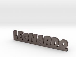 LEONARDO Lucky in Polished Bronzed Silver Steel