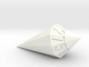 shard dice in White Processed Versatile Plastic: d10