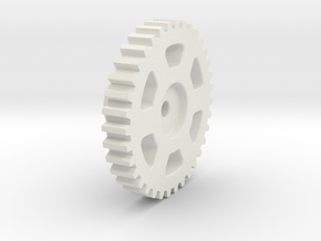 Mini-Z Motor Break-In Gear (SBS Plastic) in White Natural Versatile Plastic