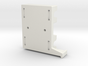 Rep Rap Prusa i3 Extruder Holder in White Strong & Flexible
