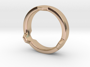 Hex 3 Ring - FAT edition in 14k Rose Gold Plated: 4 / 46.5