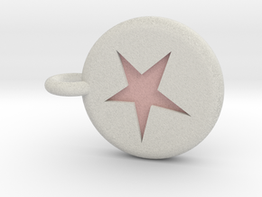 Runescape: Astral Rune Keychain in Full Color Sandstone