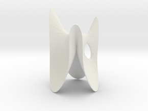 Cubic KM 15 cylinder cut with lines in White Strong & Flexible