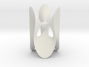 Cubic KM 11 cylinder cut with lines in White Natural Versatile Plastic