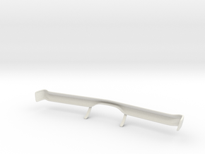 Dodge Charger 1698 Front Bumper 1/10 in White Natural Versatile Plastic