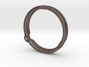 Hex 3 Ring - FAT edition in Polished Bronzed Silver Steel: 12 / 66.5