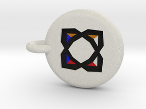 Runescape: Elemental Rune Keychain in Full Color Sandstone