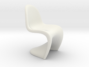 1/12 Doll House Chair Version 1 in White Strong & Flexible