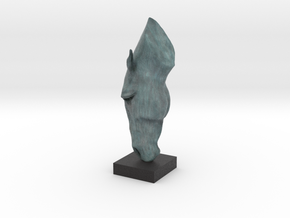 MARWARI HORSE HEAD Remastered Digital Sculpture  in Full Color Sandstone