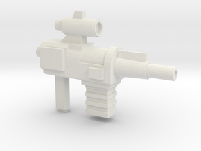 Constructo Blaster (5mm Peg) in White Natural Versatile Plastic