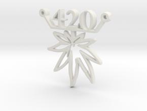 420leafC in White Natural Versatile Plastic