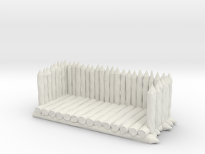 25-28mm scale Viking palisade gate balcony in White Natural Versatile Plastic