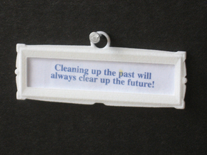 """Fortune Frame (2.25"""" by .625"""") Hanging - Single in White Strong & Flexible"""