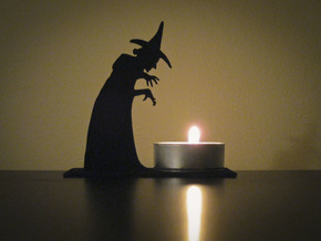 Tea Light Wicked Witch in Black Natural Versatile Plastic