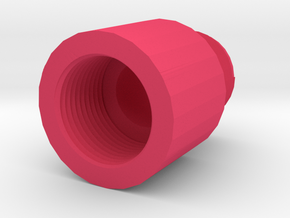 14mm+ to 14mm- Barrel Adapter in Pink Processed Versatile Plastic