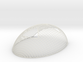 Mesh 1fc in White Natural Versatile Plastic: Small