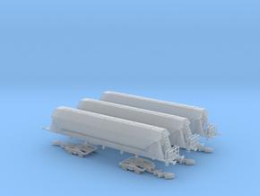 3-Set: Trichterwagen Tagnpps SBB Cargo Spur Z in Smooth Fine Detail Plastic