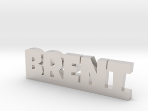 BRENT Lucky in Rhodium Plated Brass