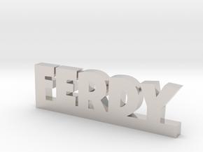 FERDY Lucky in Rhodium Plated Brass
