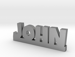 JOHN Lucky in Natural Silver