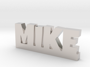 MIKE Lucky in Rhodium Plated Brass