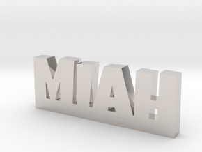 MIAH Lucky in Rhodium Plated Brass