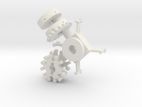 Skyfighter Center And Lifting Mech And Base in White Natural Versatile Plastic