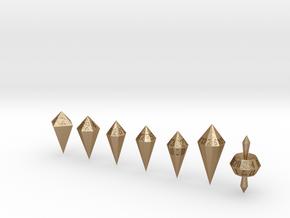 shard dice in Matte Gold Steel: Polyhedral Set