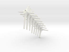 Komodo Spine Tail links Part1 1:5 Scale in White Natural Versatile Plastic