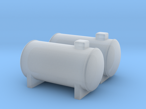 N Scale 2x Propane Tank in Smooth Fine Detail Plastic
