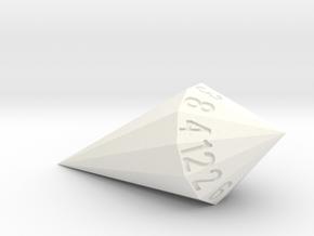 shard dice in White Processed Versatile Plastic: d12