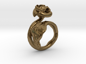 Flower Ring (multi size) in Natural Bronze