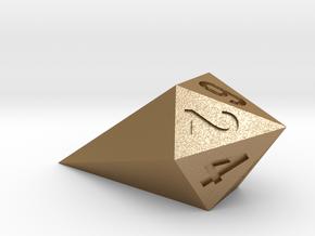shard dice in Matte Gold Steel: d6
